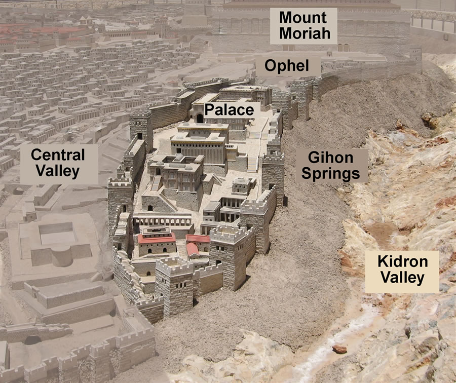 Ahnsahnghong and Zion. The city of David and surrounding valleys